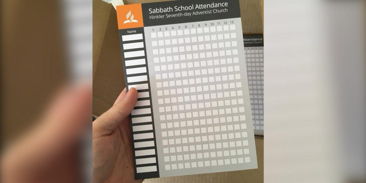Sabbath School Attendance Chart