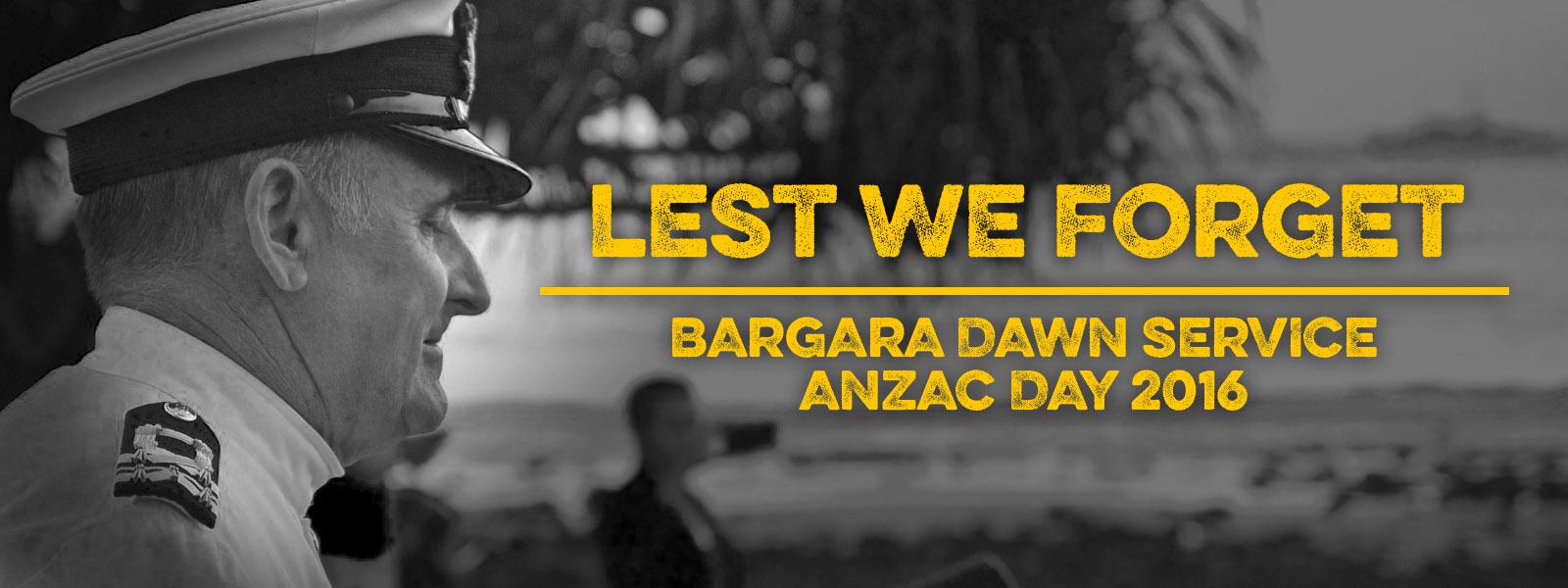 ANZAC Day 2016 – Bargara Dawn Service